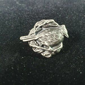 Jewelry - Unisex Pewter 3D Dimensional Perched Cardinal Pin